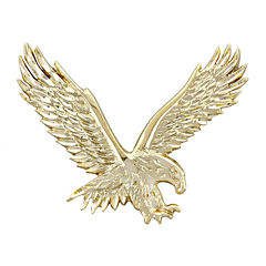 Mens 14K Yellow Gold  Large Eagle Pendant