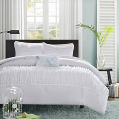 Mi Zone Tatiana Ruched Duvet Cover Set