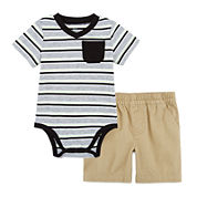 Okie Dokie® Short-Sleeve Bodysuits or Pull-On Shorts - Baby Boys newborn-24m