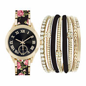 Fashion Watches Womens Black Watch Boxed Set