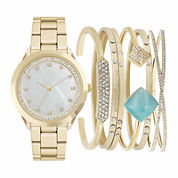 Mixit Womens Gold Tone 7-pc. Watch Boxed Set-Jc2011g569-043