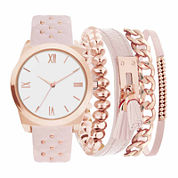 Mixit Womens Pink 5-pc. Watch Boxed Set-Jc2030rg569-968