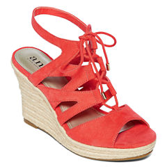 a.n.a Manhattan Womens Wedge Sandals