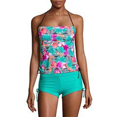 Arizona Floral Bandeau Swimsuit Top-Juniors