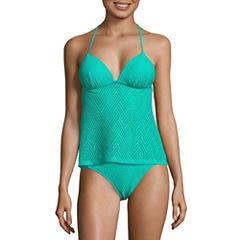 Arizona Solid Tankini Swimsuit Top-Juniors