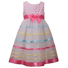 Bonnie Jean Sleeveless Party Dress - Preschool Girls