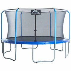 SKYTRIC 15 ft Trampoline with Top Ring Enclosure System