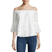 a.n.a Off The Shoulder Peplum Lace Blouse