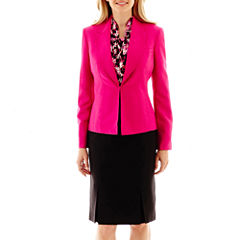 Black Label by Evan-Picone Lapel Jacket, Bow Blouse or Vented-Hem Skirt