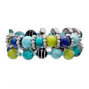 Mixit Womens  Turquoise 2 Row Set Stretch Beaded Bracelet