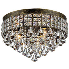 Warehouse Of Tiffany Melly 3-light Antique 16-inchCrystal Chandelier