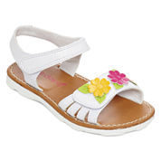 Okie Dokie® Harmony Open-Toe Girls Strap Sandals- Toddler