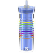 Zak Designs® HydraTrak™ 20-oz. Insulated Striped Tumbler with Straw