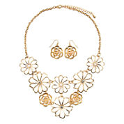 Mixit Gold Flower Jewelry Set