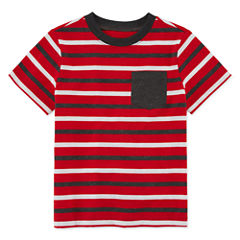 Okie Dokie Short-Sleeve Striped T-Shirt - Toddler 2T-5T
