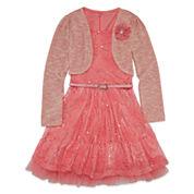 Knit Works Girls Sleeveless Jacket Dress