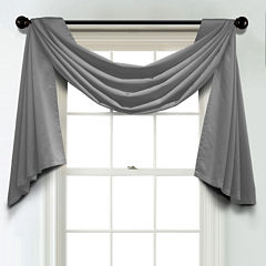 JCPenney Home Matte Satin Unlined Scarf Valance