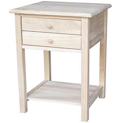 Lamp 2-Drawer Console Table