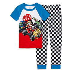 Disney Boys Short Sleeve Mickey Mouse Pajama Set