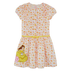 Disney Short Sleeve Beauty and the Beast A-Line Dress - Toddler Girls