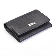 Royce® Saffiano Gussett Card Case