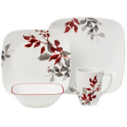 Corelle® Boutique™ Kyoto Leaves 16-pc. Square Dinnerware Set