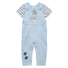 Disney Baby Collection Lady and the Tramp 2-pc. Overall Set - Baby Boys newborn-24m