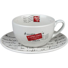 Konitz Coffee Bar Amore Mio 4-pc. Mug and Saucer Set
