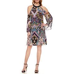 Nicole By Nicole Miller Cold Shoulder Shift Dress