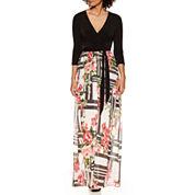 Weslee Rose 3/4 Sleeve Maxi Dress