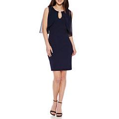 Ronni Nicole Chiffon Overlay Sheath Dress