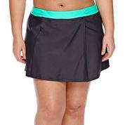 Free Country Solid Swim Skirt-Juniors Plus
