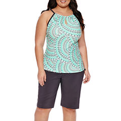 Free Country Medallion Tankini Swimsuit Top-Plus