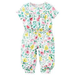 Carter's Infant Girls Short Sleeve 1 pc Jumper Suit