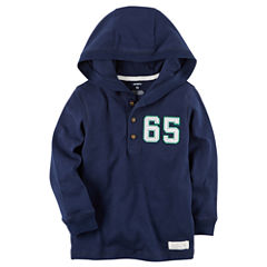 Carter'S Boys Navy And Grey Hooded Henley-Baby