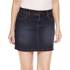 St. John's Bay Solid Denim Skorts