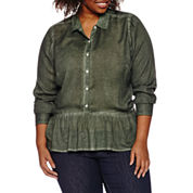 a.n.a 3/4 Sleeve Rayon Blouse-Plus