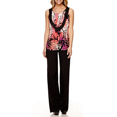 Worthington® Ruffle Front Blouse and Modern Fit Pants