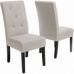 Owen Set of 2 Tufted Parsons Dining Chairs