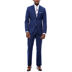 Collection by Michael Strahan Navy Plaid Suit Separates- Slim Fit