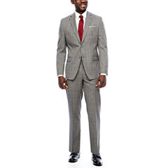 Collection by Michael Strahan Gray Windowpane Suit Separates-Classic Fit