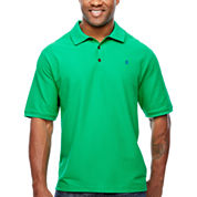 IZOD Short Sleeve Solid Pique Polo Shirt Big and Tall