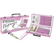 Pink Art For Beginners Artist Set-Sketching & Drawing