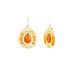 Mixit Orange Drop Earrings