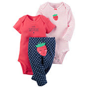Carter's Girls 3pc Bodysuit