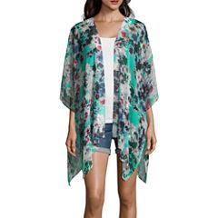 Arizona 3/4 Sleeve Pattern Kimono Juniors