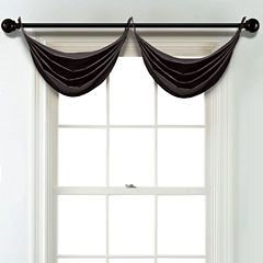 JCPenney Home Matte Satin Grommet Poly-Cotton Lined Waterfall Valance