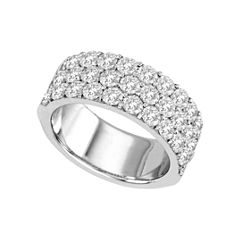 2 1/2 CT. T.W. Diamond Three-Row Band