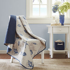 Madison Park Nantucket Oversize Quilted Throw