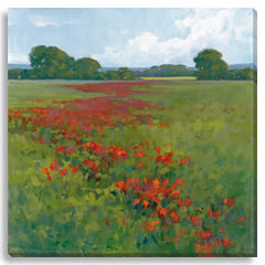 Red Poppies II Canvas Wall Art
